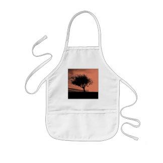 Glastonbury Hawthorn. Tree on Hill. Orange Black. Apron