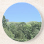 Glastonbury Tor from Chalice Well and Gardens Drink Coaster