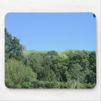 Glastonbury Tor from Chalice Well and Gardens Mouse Pad