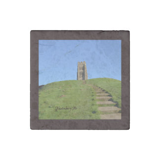Glastonbury Tor Somerset England Photo Stone Magnet