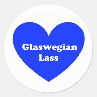 Glaswegian Lass Classic Round Sticker