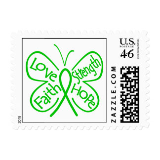 Glaucoma Butterfly Inspiring Words Postage Stamps