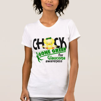 Glaucoma Chick Gone Green 2 T-shirt