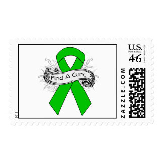 Glaucoma Find A Cure Ribbon Postage