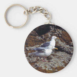Glaucous-winged Gulls Key Chain
