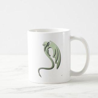 Glaurung el dragón verde metálico taza de café