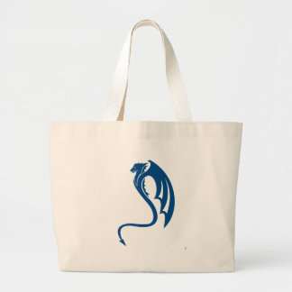 Glaurung the Blue Dragon Large Tote Bag