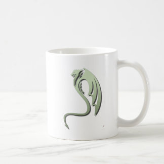 Glaurung the Metallic Green Dragon Coffee Mug