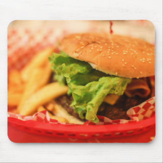 Glaze Burger And  Fries Mousepad