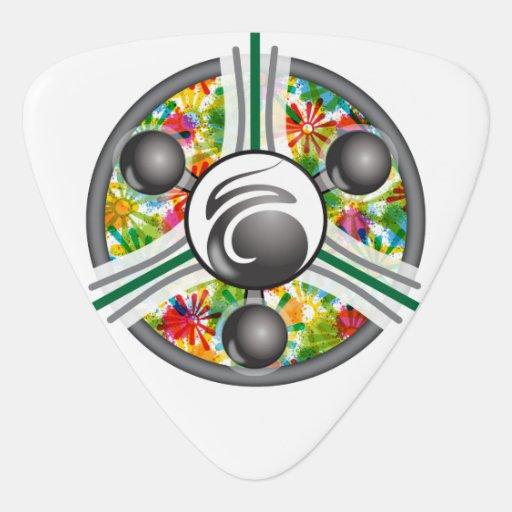Glaze Flower Motor Rounded Triangle Guitar Pick Zazzle