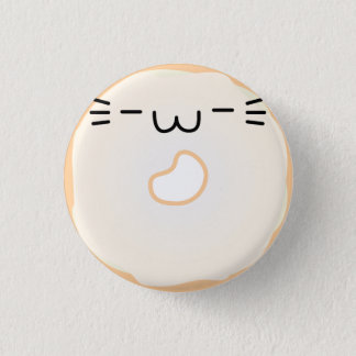 Glazed Cat Donut Button Stretched