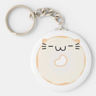 Glazed Cat Donut Keychain