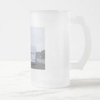 Glazed Cops Frosted Glass Beer Mug