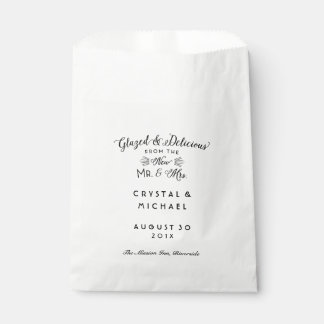 Glazed Delicious Mr and Mrs Wedding Pastry Bags