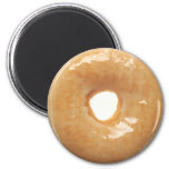 Glazed Donut 2 Inch Round Magnet
