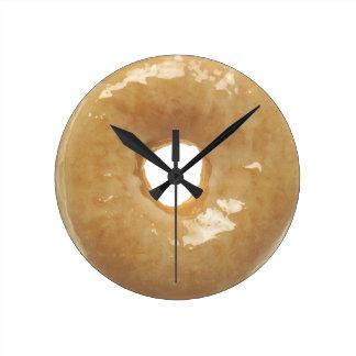 Glazed Donut Novelty Round Clock