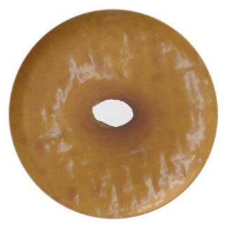 Glazed donut plate