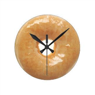 Glazed Donut Round Clock