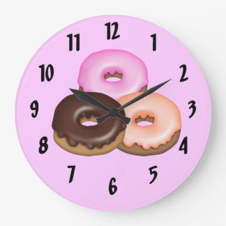 Glazed Donuts Large Clock