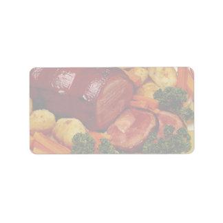 Glazed ham custom address labels