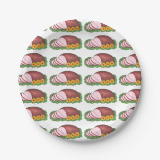 Glazed Holiday Ham Hams Christmas Dinner Plates