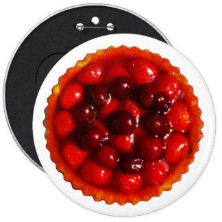 Glazed strawberry flan pin