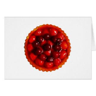 Glazed strawberry flan card