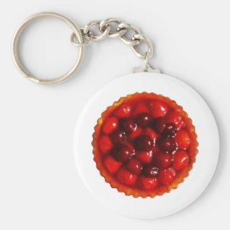 glazed strawberry flan keychain