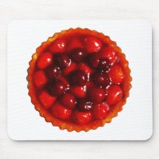 Glazed strawberry flan mouse pad