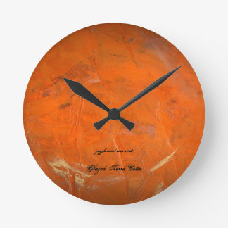 Glazed Terra Cotta Round Clock