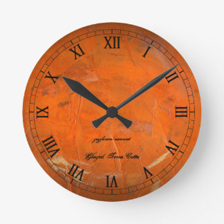 Glazed Terra Cotta Wallclock