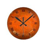Glazed Terracotta Wallclock Roman Numerals Wallclock