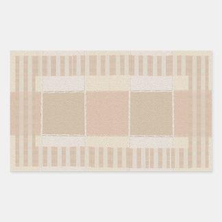 Glazed Tiles n Stripes  Silver Color Sheet Rectangular Sticker