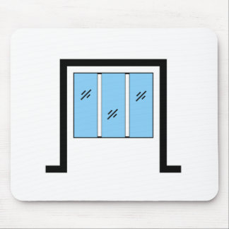 Glazed window with frame mouse pad
