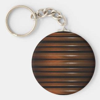 Glazed Wood Background Keychain