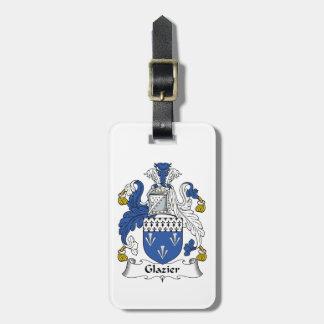Glazier Family Crest Bag Tag