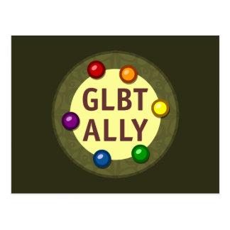 GLBT Ally Baubles Postcard