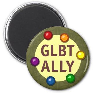 GLBT Ally Baubles Round Magnet