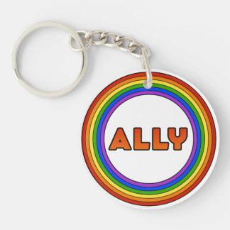 GLBT Ally Keychain (Acrylic)