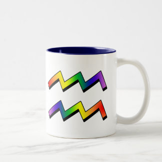 GLBT Aquarius Two-Tone Coffee Mug