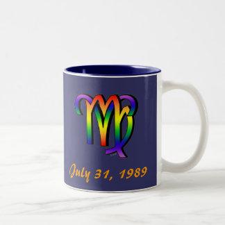 GLBT Aries & Virgo Two-Tone Coffee Mug