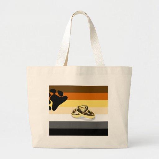 GLBT Bear Pride Marriage Canvas Bags