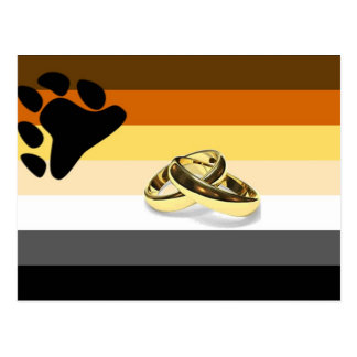 GLBT Bear Pride Marriage Postcard