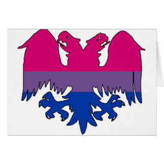 GLBT Biseuxal Pride Double-Headed Eagle Card