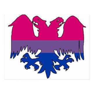 GLBT Biseuxal Pride Double-Headed Eagle Postcard