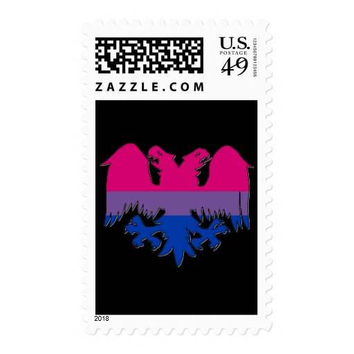 GLBT Biseuxal Pride Double-Headed Eagle Stamps