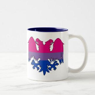 GLBT Biseuxal Pride Double-Headed Eagle Two-Tone Coffee Mug