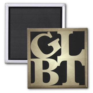 GLBT Black Pop Square Magnet