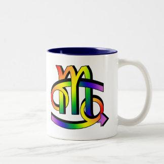 GLBT Cancer & Scorpio Two-Tone Coffee Mug