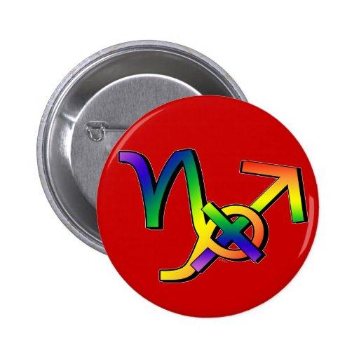 GLBT Capricorn & Sagittarius Button